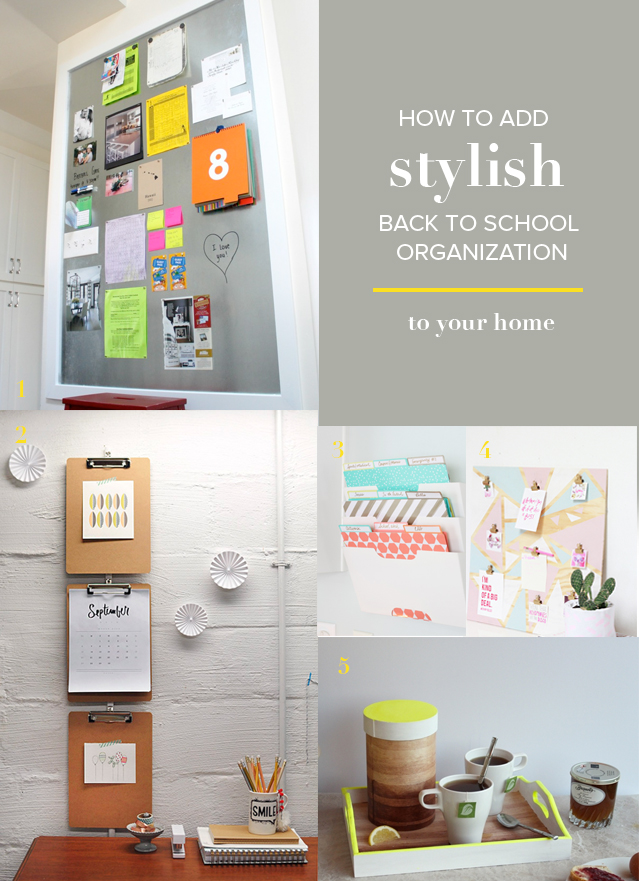 An organized school year is a happy one! Of course, no one wants to skimp on style for the sake of tidy. Here's how to add stylish back to school organization to your home.