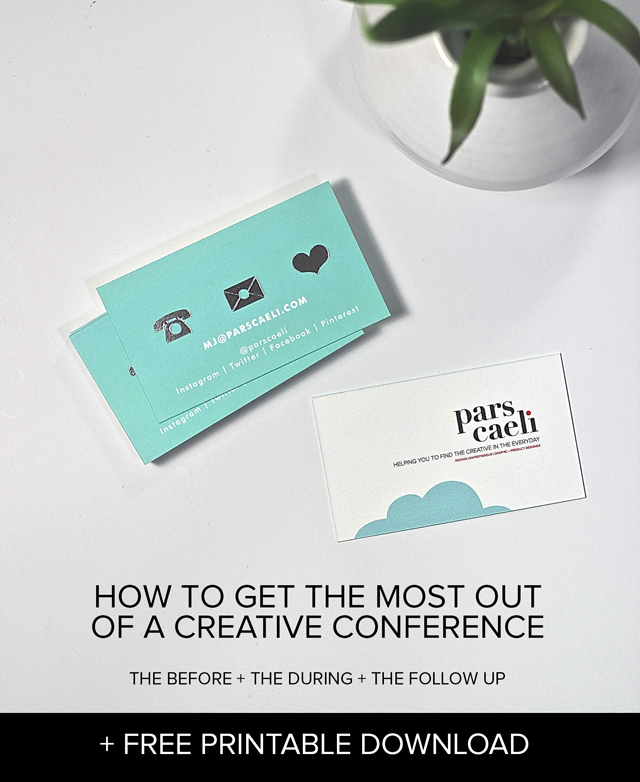 Your complete - free printable - checklist for everything you need to know before, during, and after a creative conference to get the most out of it!