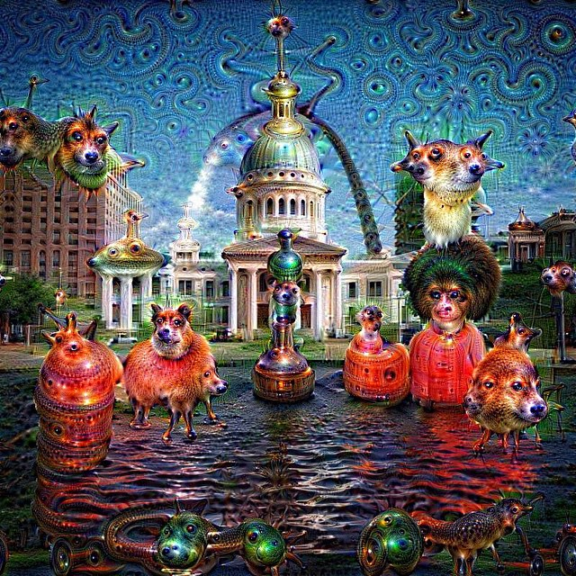 #deepdream #stlouis #thearch #arch #fountain #water #downtownstl #Missouri #weirdshit #killyourtv #gooutside #red #empireeverywhere #empireadventureteam @swoldy_locks @kleegulz