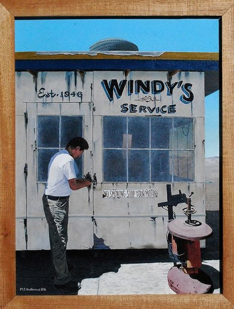 "Tom VanNortwick - #193 ""Windy"". 24 x 18, oil on canvas. Not for sale."