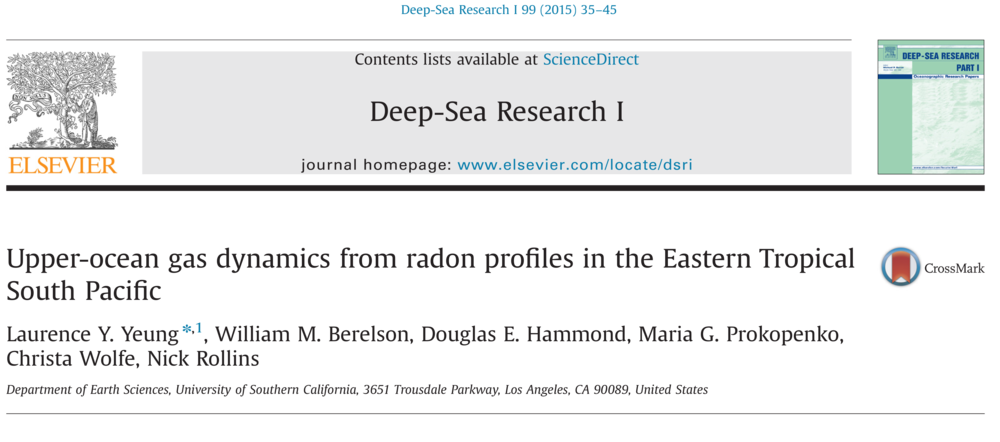 Hot off the presses in  Deep-Sea Research .