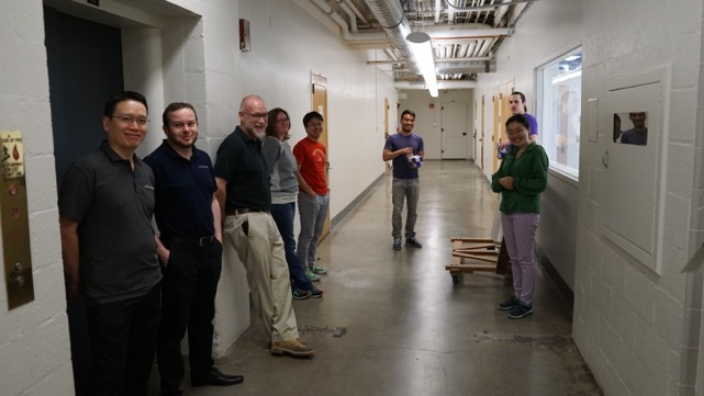 The team with an empty hallway (  9 am  , 20 March 2015)