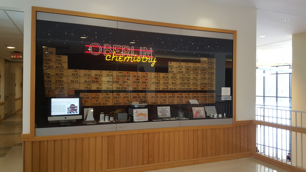 The wooden periodic table, a fixture in the Department of Chemistry, lives on.