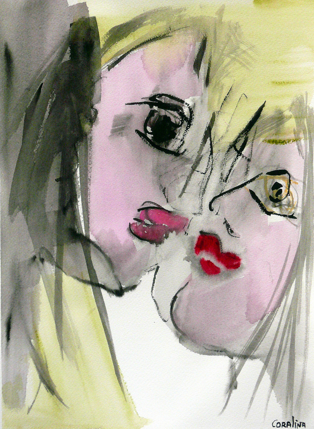 #1 Watercolor  on Paper 12x16in (31x41cm)