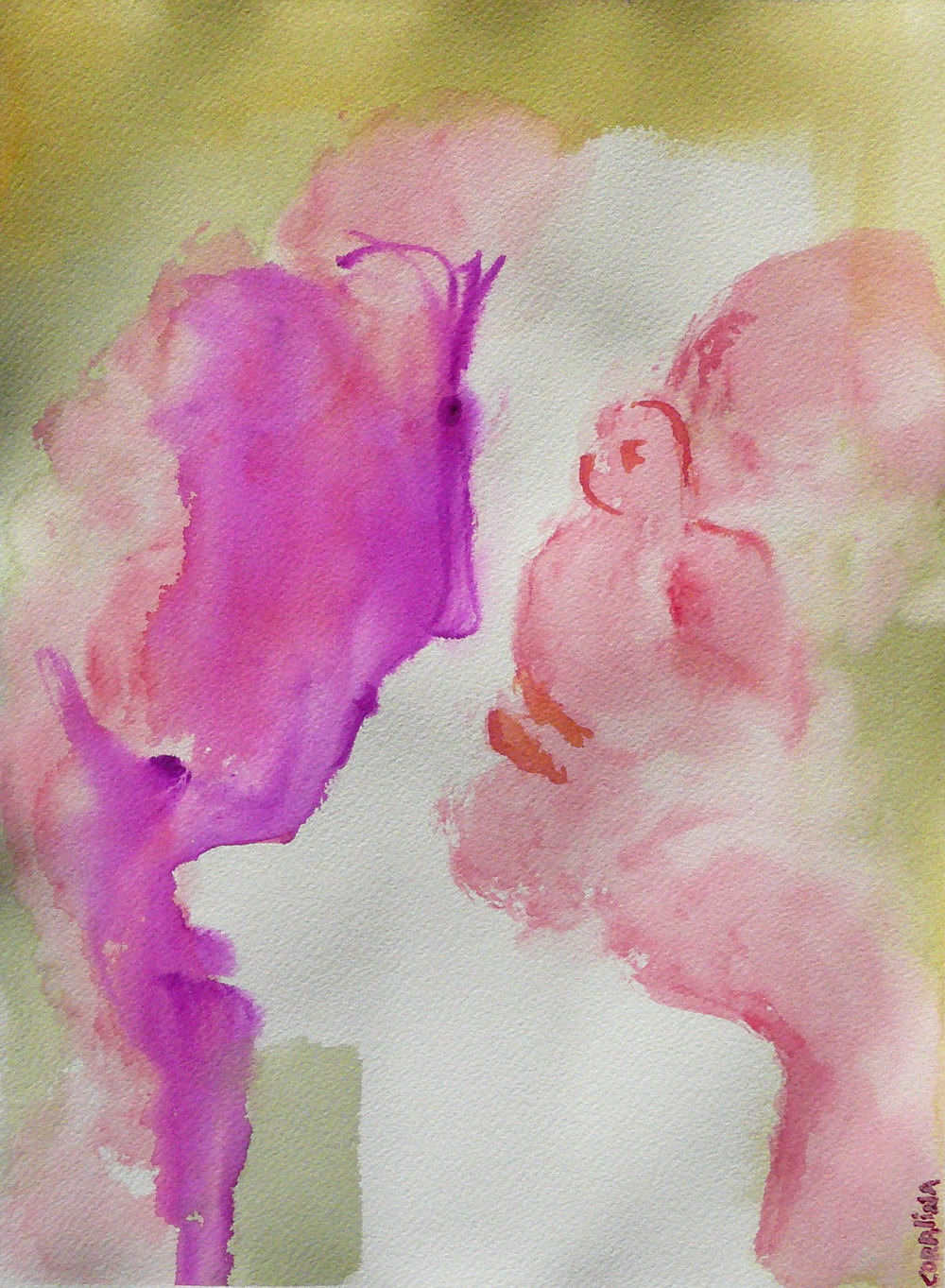 #2 Watercolor  on Paper  2x16in (31x41cm)