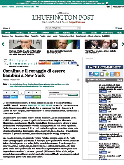 Coralina Cataldi-Tassoni article coralina e' il coraggio di essere bambini a NY.jpg