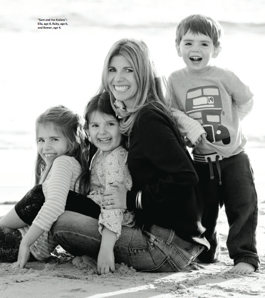 Samantha Ettus with her children