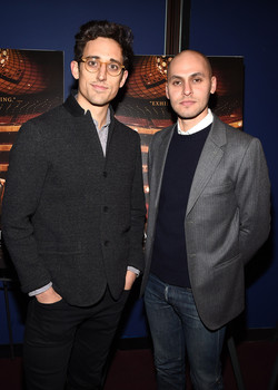New York City Ballet resident choreographer Justin Peck (L) and filmmaker Jody Lee Lipes