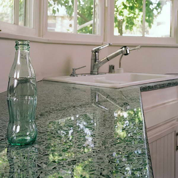 Countertop Price Comparison Recycled Glass : Recycled Glass Countertops Chicago Recycled Glass Countertop With