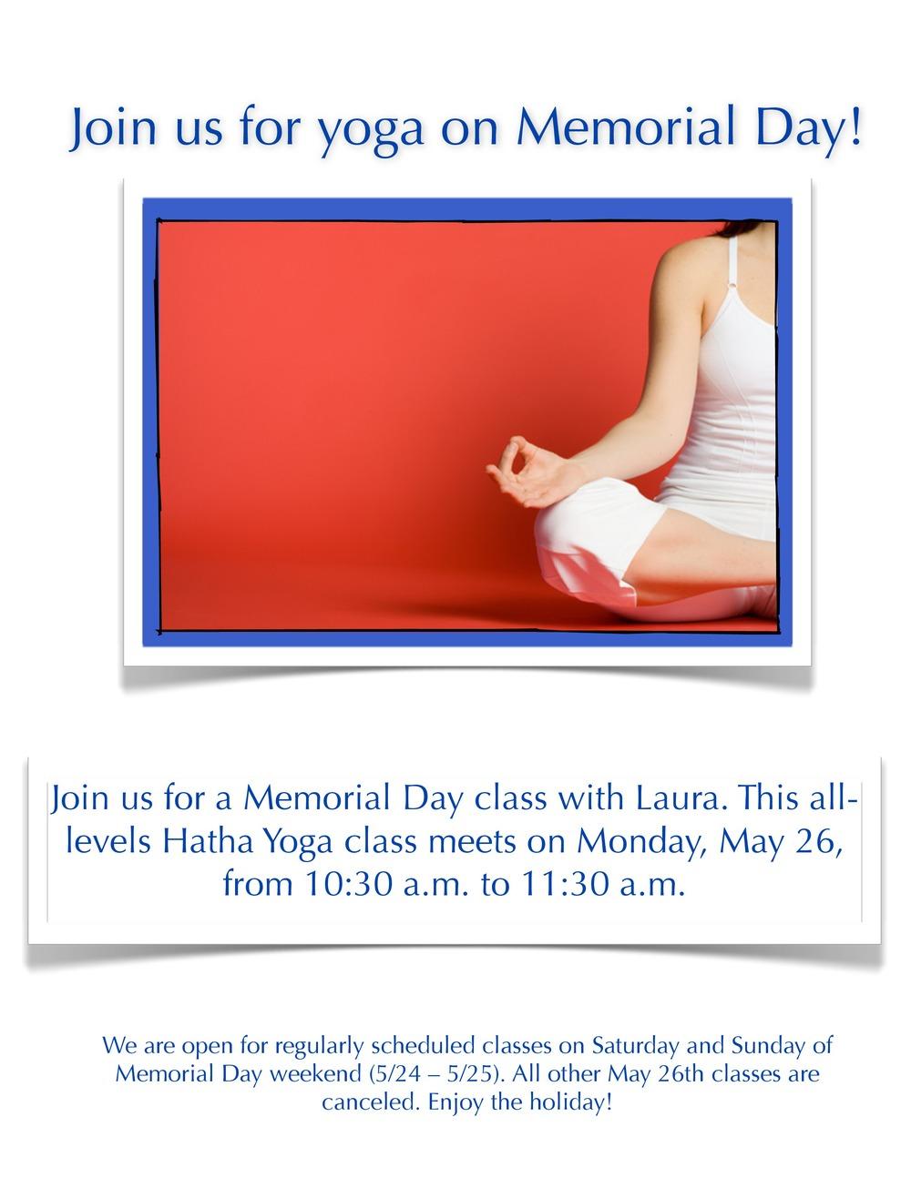 Memorial Day Yoga