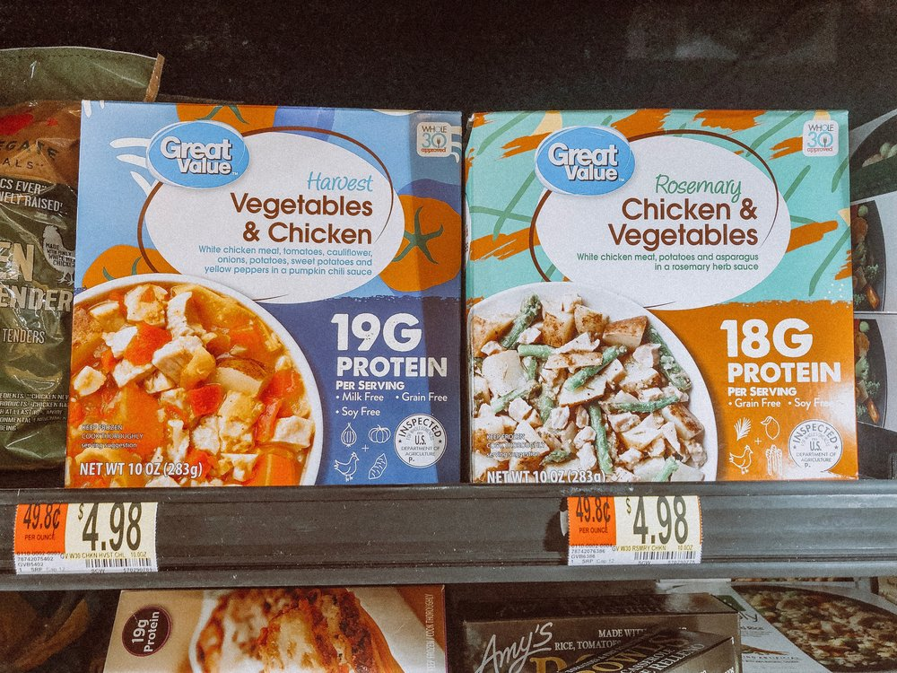 Frozen Meals - Walmart has Whole30 frozen bowls. They are perfect for lunch on the go.