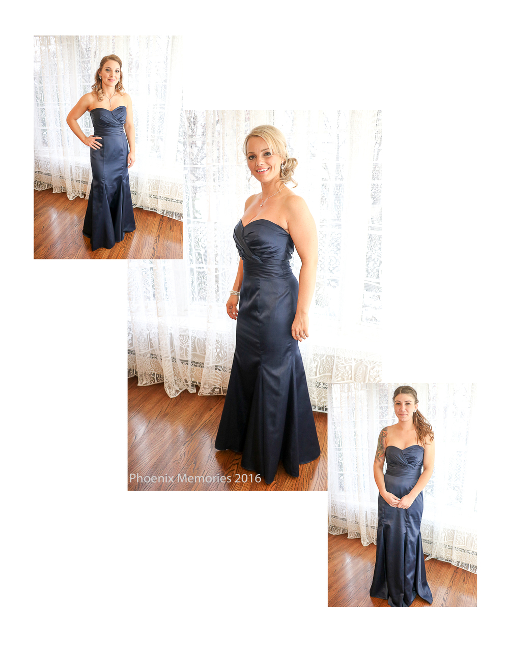Sarah's Bridesmaids (Christina, Cassandra & Kelly) were simply gorgeous, in beautiful Navy dresses from  Bella Bridal Boutique .  Hair/Makeup by Katie Klett.