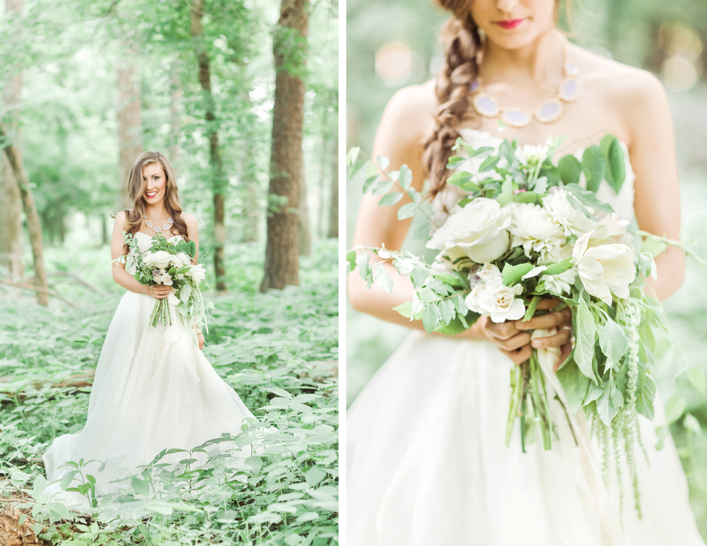 Woodland Bridal by Mitchell Willis Events and The Nolans Photo