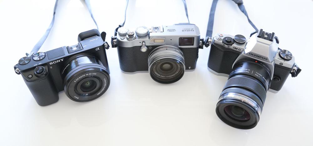 Sony Alpha a6000, Fuji X100T, Olymps OM-D E-M5. Click to enlarge