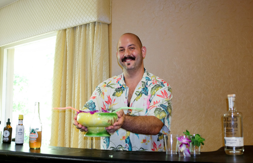 Winner of the Bartenders Battle,  Anthony Schmidt  of Fairweather, in San Diego.