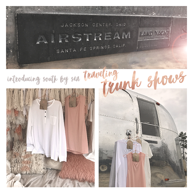 Our traveling trunk shows are hitting the road as we speak to bring exclusive apparel right to your front door! Get ready to shop til you drop because we have brand new designs for every chapter. Be sure to follow South by Sea on Instagram, Facebook, and Twitter to find out when the trunk show is coming to a campus near you!