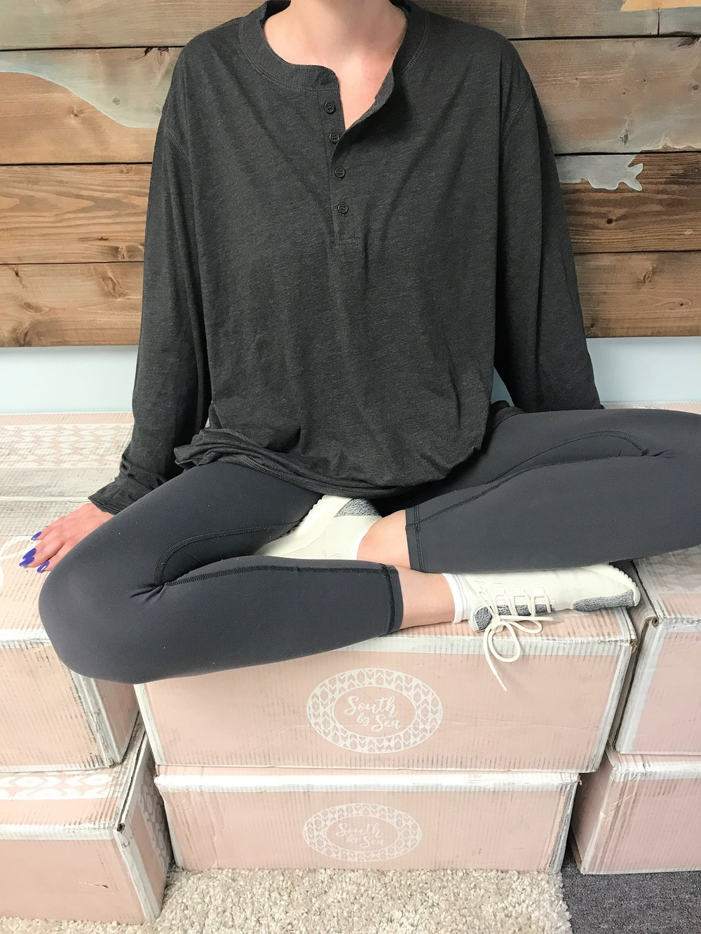 For the conventionally trendy...  - Leggings, jeans, yoga pants...this Henley works with them all. This on-trend top is a surefire staple in any wardrobe! You could even gift it to the man in your life, we don't judge.Starting at $20 Order Now
