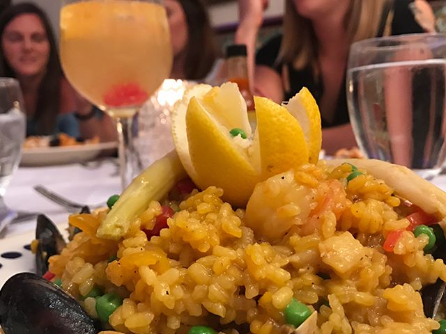 When in Ybor City you gotta get to @columbiarestaurant #paella #seafood #tampa #yborcity #NOMaste #florida #vacation #byebyeburki
