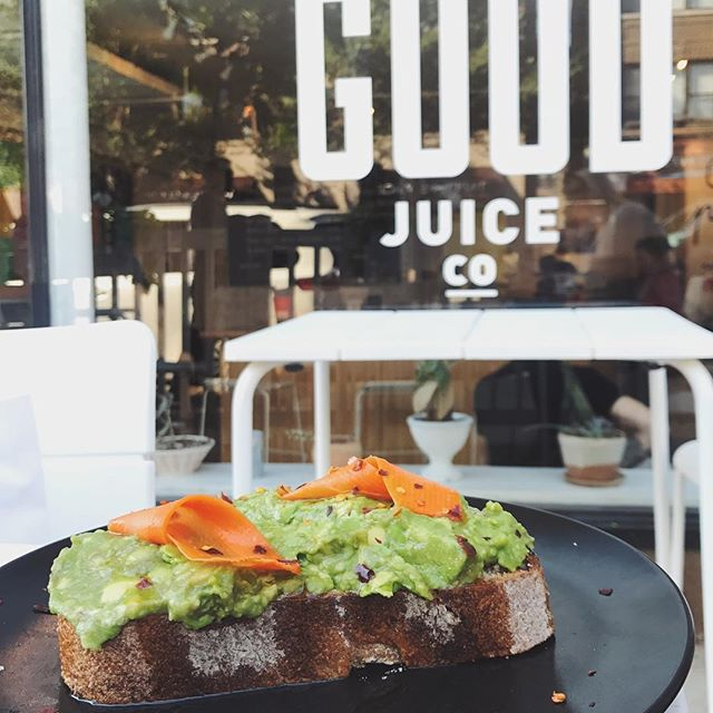 @realgoodjuiceco on #southport #avacadotoast #NOMaste #chicagofoodie