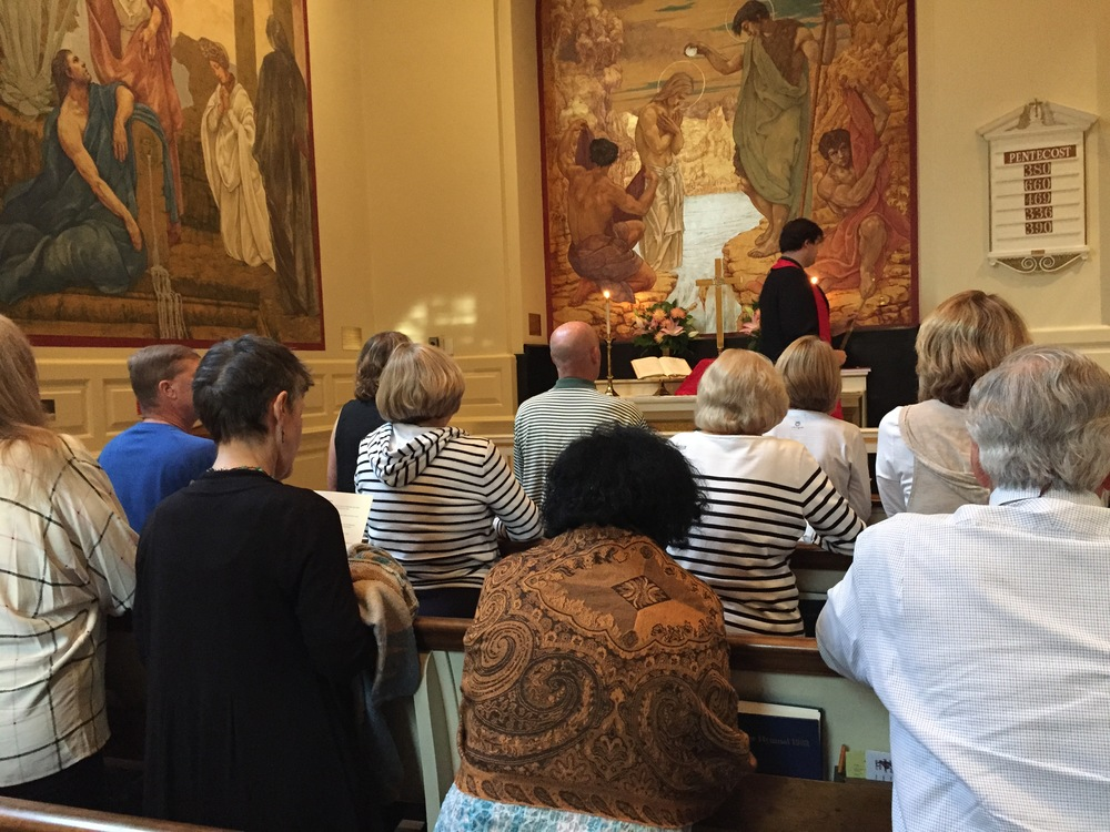 Pilgrims in chapel at Weekend #3.