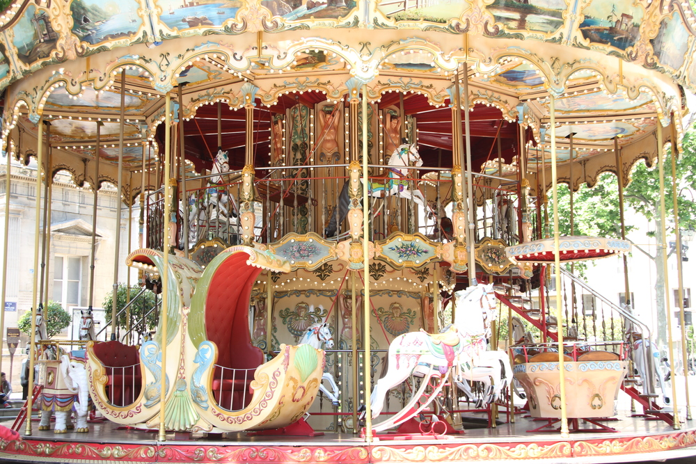 Carrousel, Place de l'Horloge, Avignon.