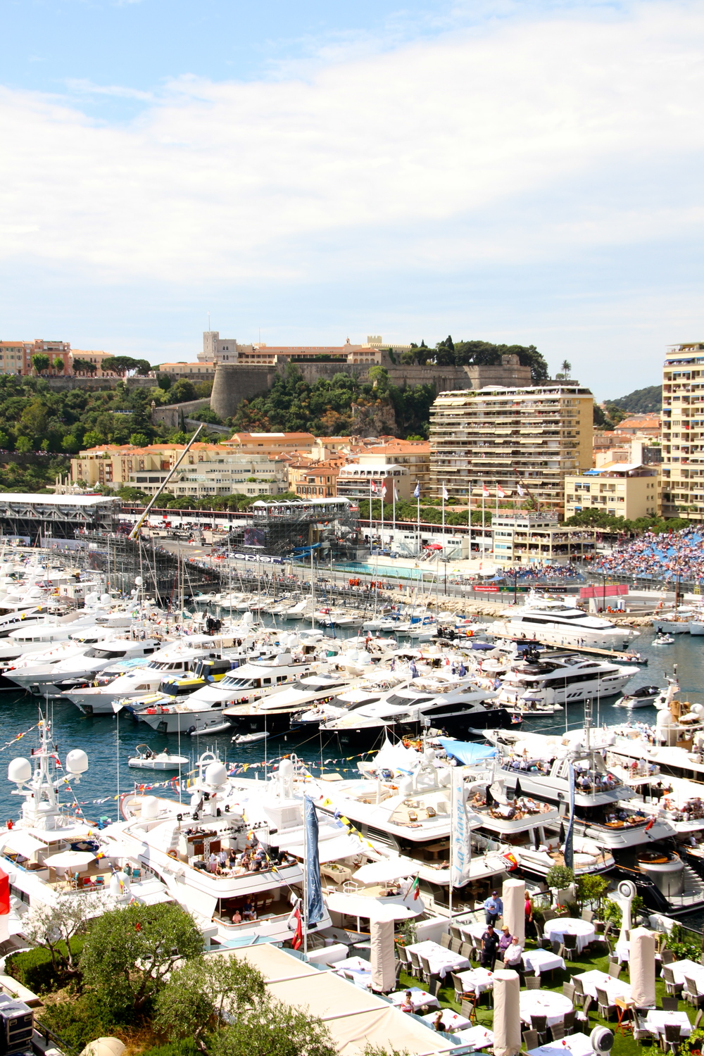 Super Yachts in Monaco Harbour