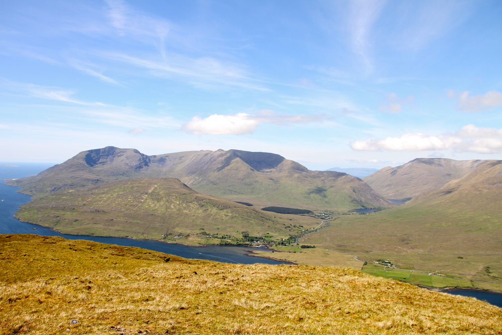 The top of Mount Leenane, Connemara, Co. Galway, Ireland.