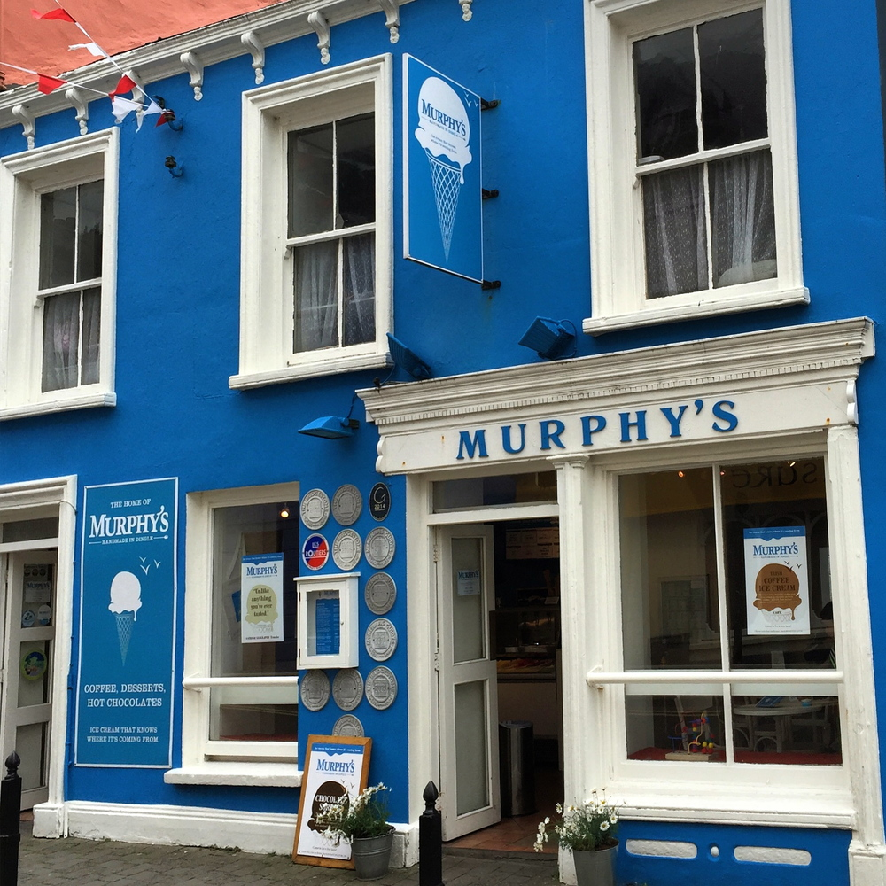 The Best Ice Cream! Murphy's Ice Cream is made with cream from grass fed cows from Kerry and it is simply amazing. Dingle, Co. Kerry, Ireland.