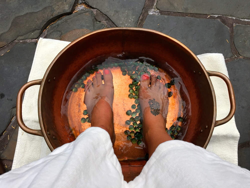 A relaxing start to any treatment. Ancient Cedars Spa, Wickaninnish Inn, Tofino, BC, Canada.