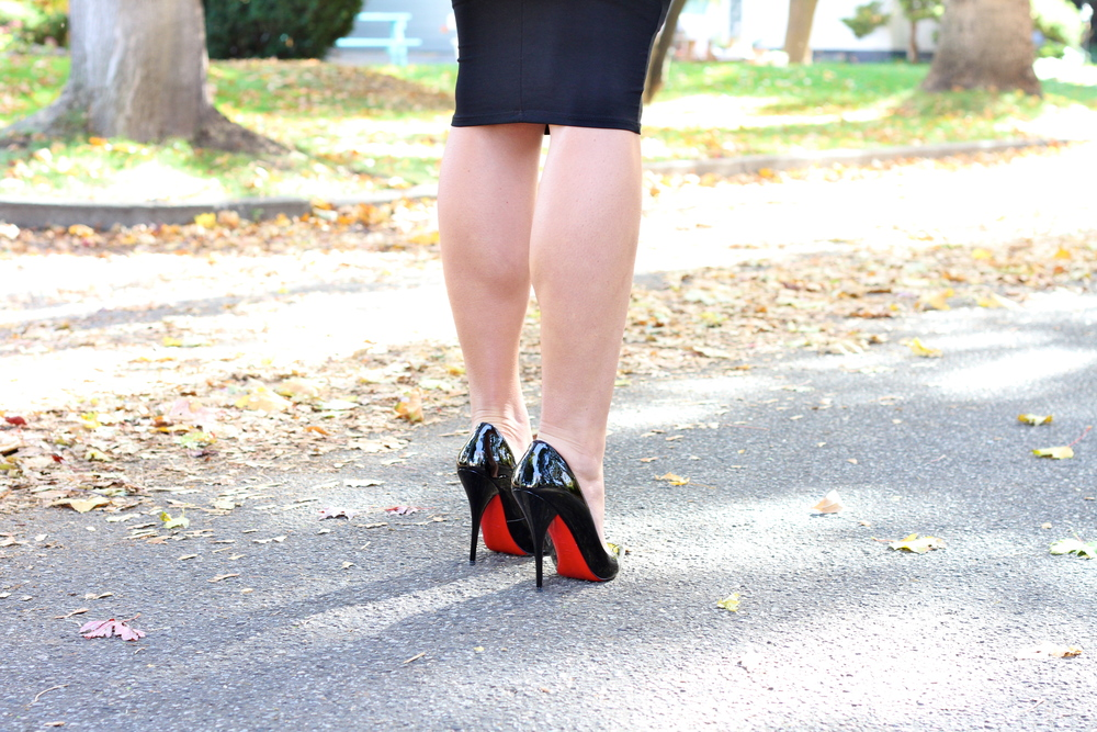 Black Patent Christian Louboutin Heels