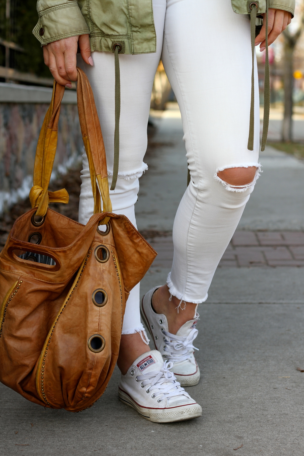 Ripped White Jeans.