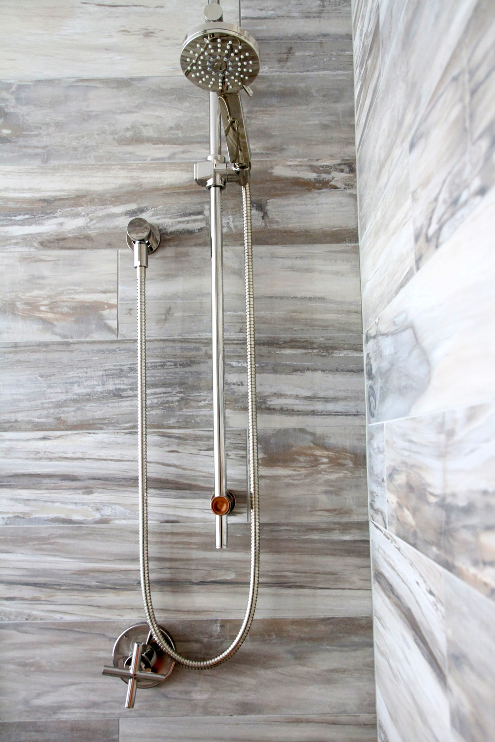 Master Bathroom Reveal. Riobel Shower Head.