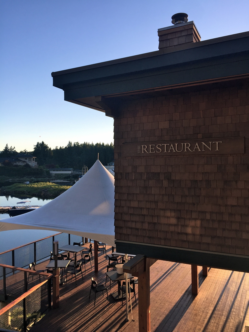 The Restaurant at Painted Boat Resort, Sunshine Coast, BC, Canada.