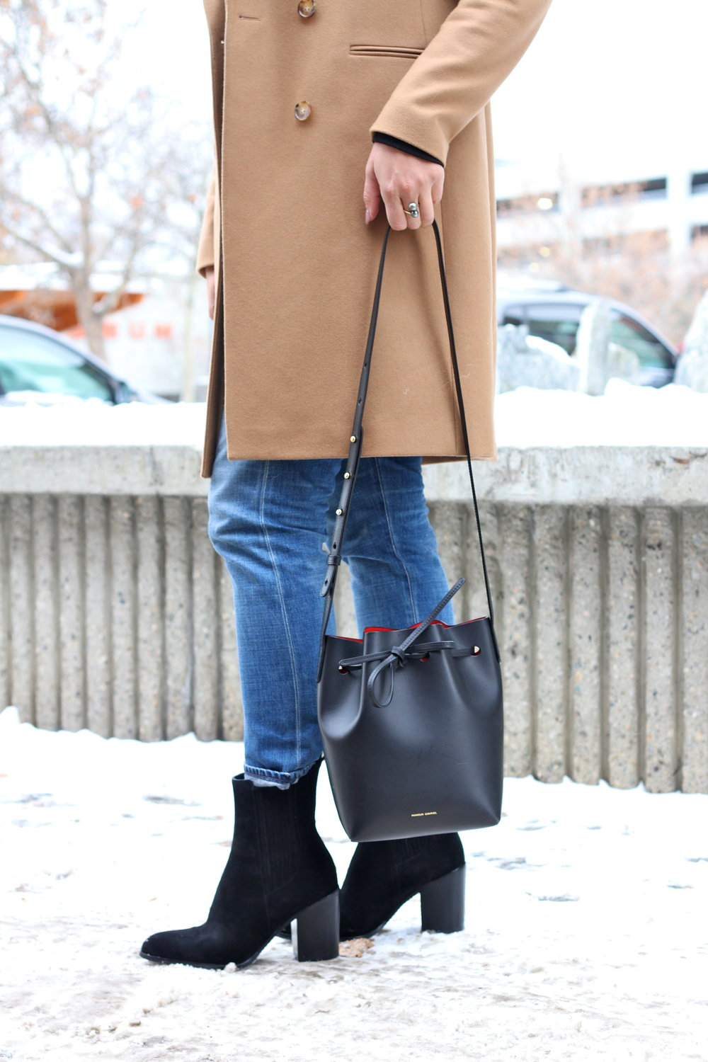 Mansur Gavriel Mini Bucket Bag.