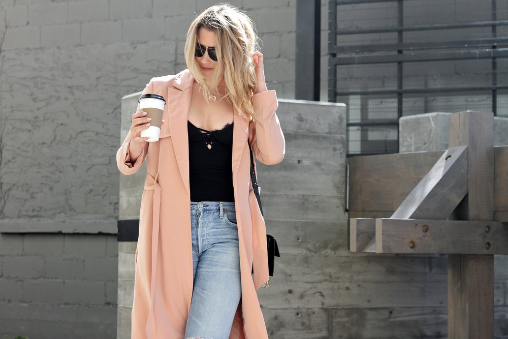 Blush Pink Trench