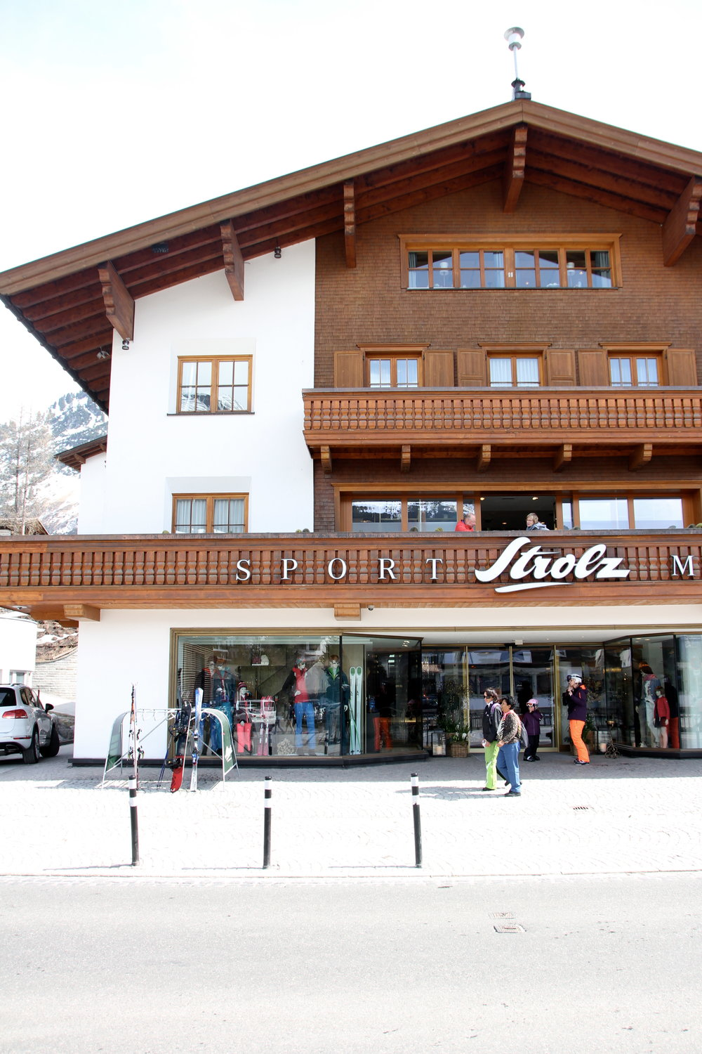 The place to go for custom ski boots and glam gear. Strolz, Lech, Austria.