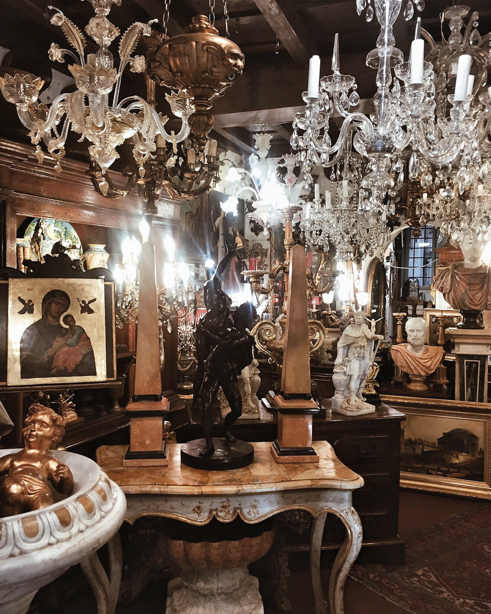 Antique Shop, Rome, Italy.