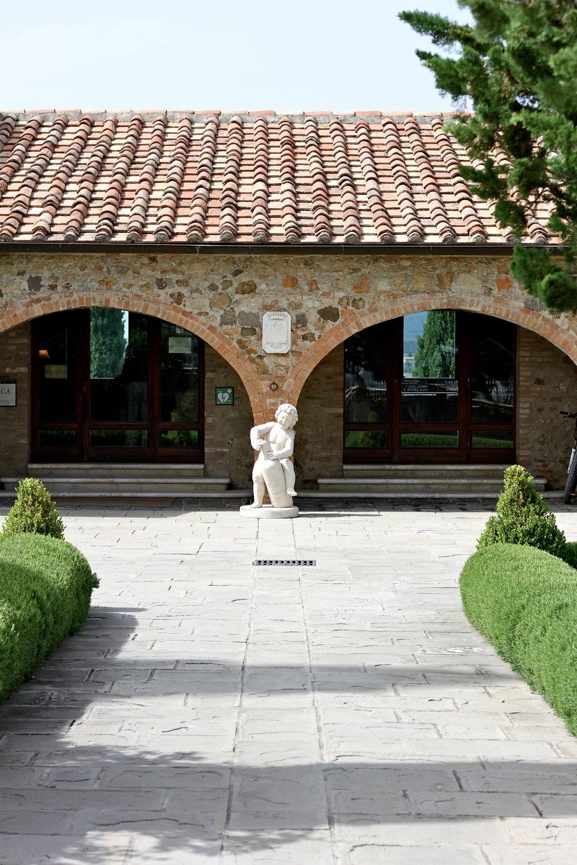 Castello Banfi, Montalcino, Tuscany, Italy.