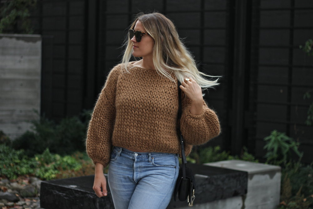 New Post - Cropped CamEL Sweater