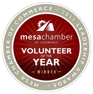 2011    Mesa Chamber of Commerce Leadership Awards   Volunteer of the Year