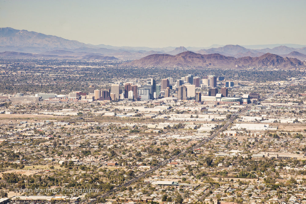View of Downtown Phoenix from South Mountain