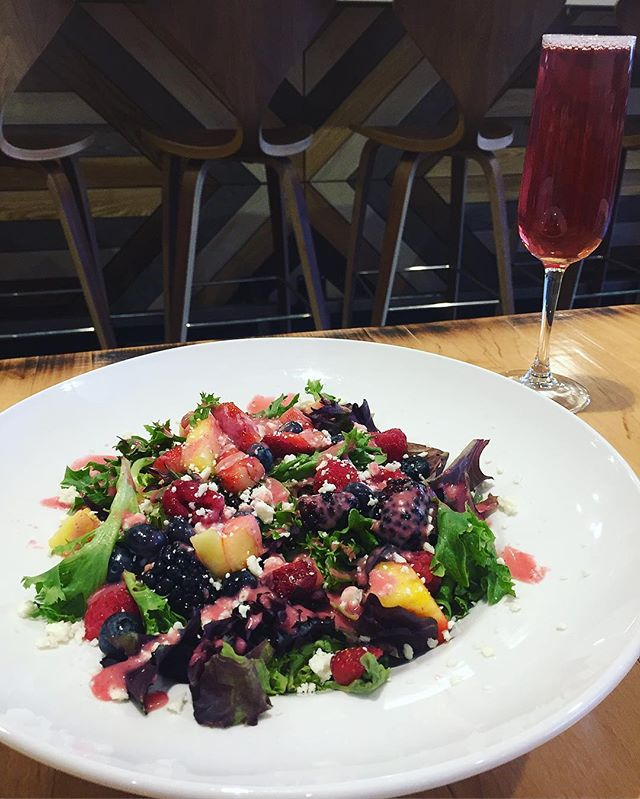 #springisintheair Special this weekend: Spring berry salad with cotija, maple toasted oaks and a blueberry vinaigrette