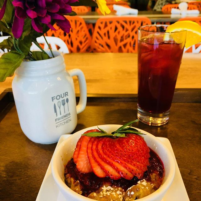 We love our Mothers! Treat Mom to some Strawberry Bread Pudding 🍓 and a Peach Sangria 🍑 on her special day.  #happymothersday #everydayismothersday #mothersarethebest #notallheroeswearcapes #brunch #denverbrunch #fourfriendskitchendu #fourfriendskitchen #tellyourmomyouloveher #momswhobrunch
