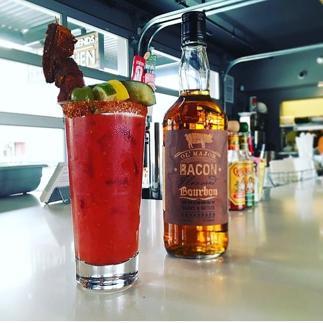 #nationalbourbonday featuring our @baconbourbon Bloody Mary!