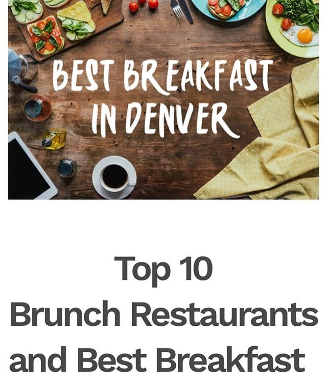 Thanks @gapyearescape for including us in your Top 10 Brunch Restaurants in Denver! 💚🧡💙