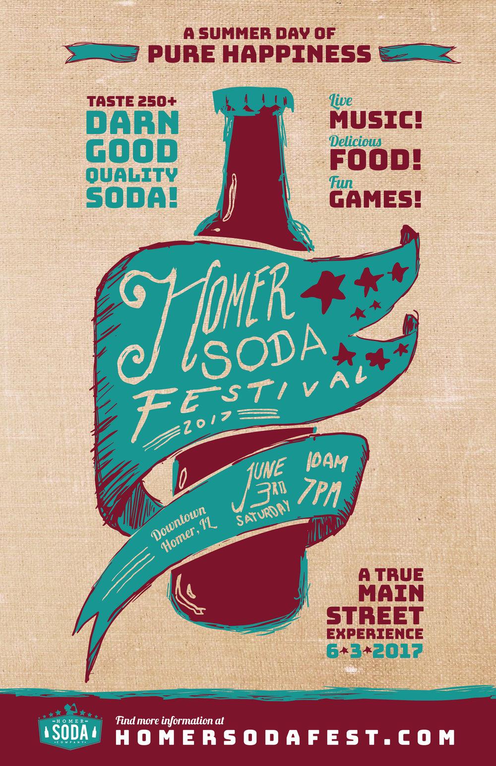 2017 Homer Soda Festival Poster
