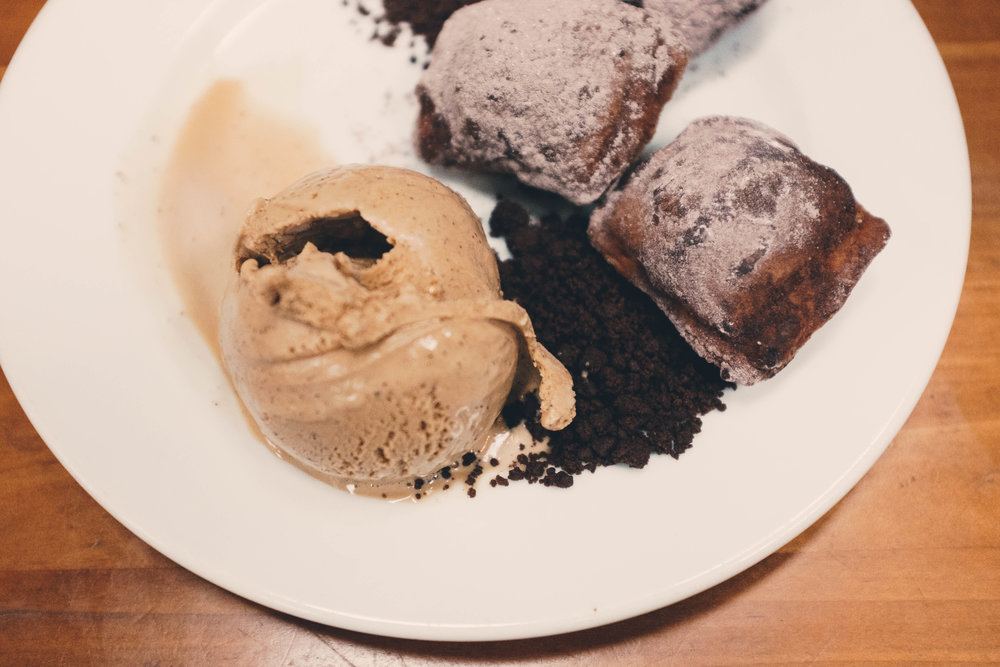 Chocolate-filled beignets. Say no more.
