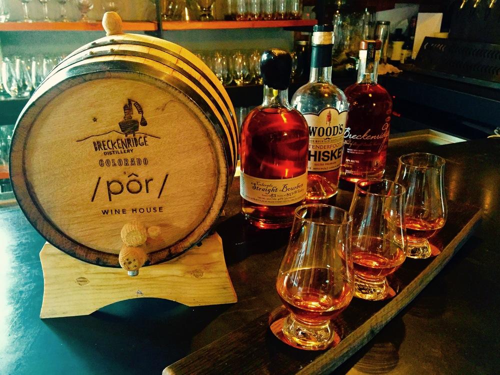 Colorado Whiskey Flight & Pairing at por wine house