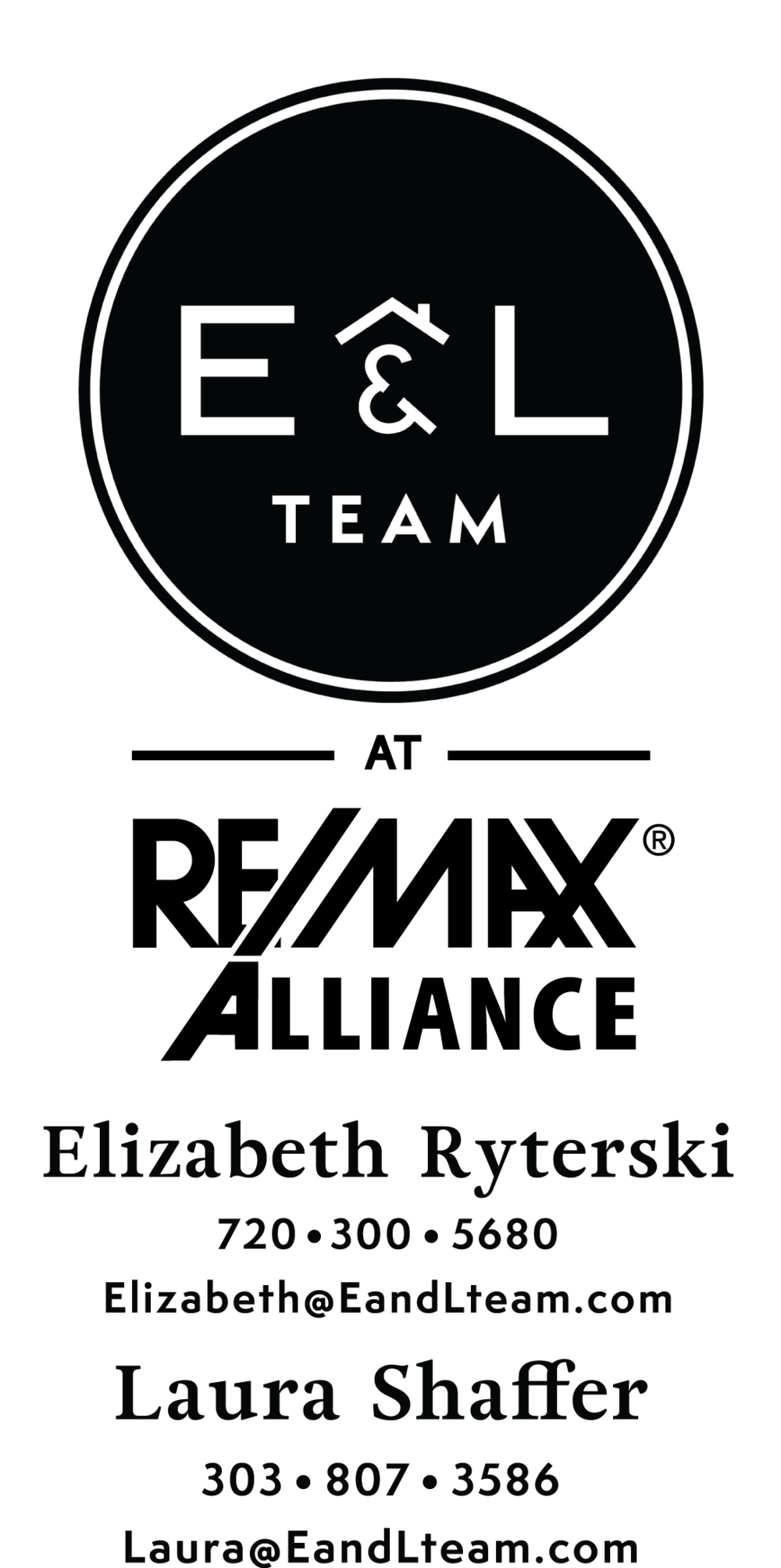 E and L Logo Black with REMAX Alliance Numbers.png
