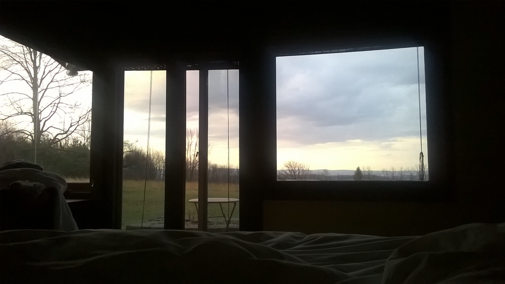Waking up in the Master Bedroom